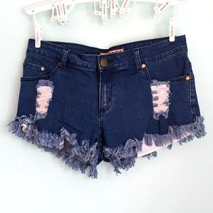 Reverse Factory Distressed Shorts